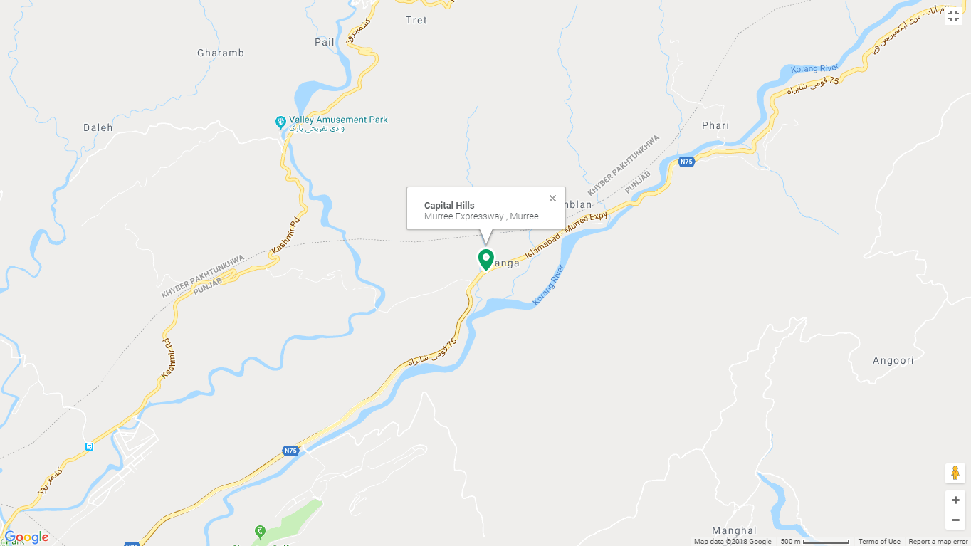 Capital Hill Murree Location Map