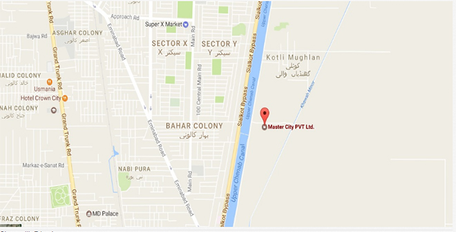 Master City Gujranwala Location Map