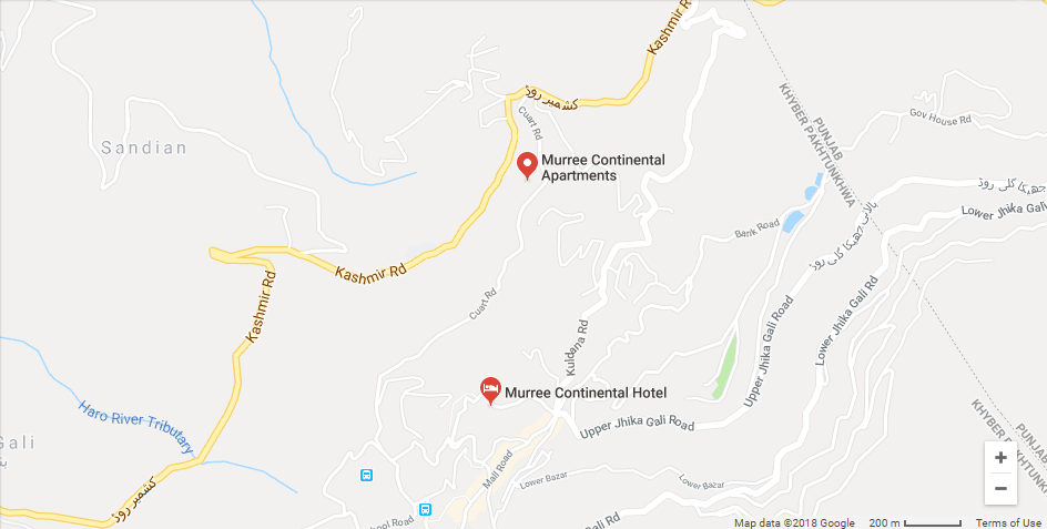 Murree Continental Complex Murree Location Map