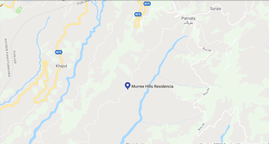 Murree Hills Residencia Murree Location Map