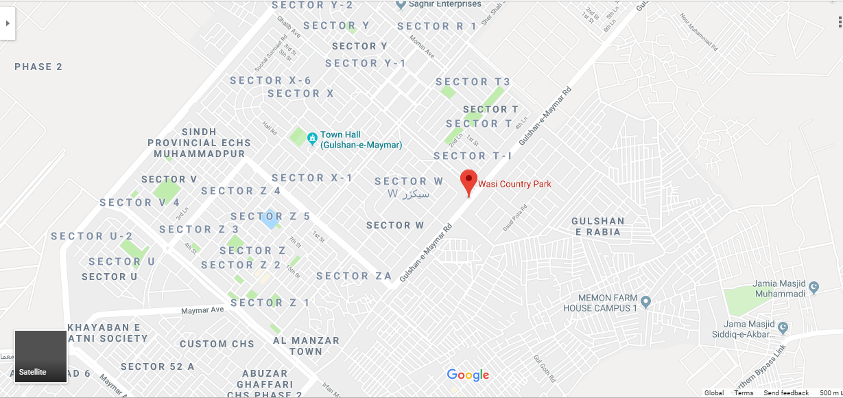 Wasi Country Park Karachi Location Map