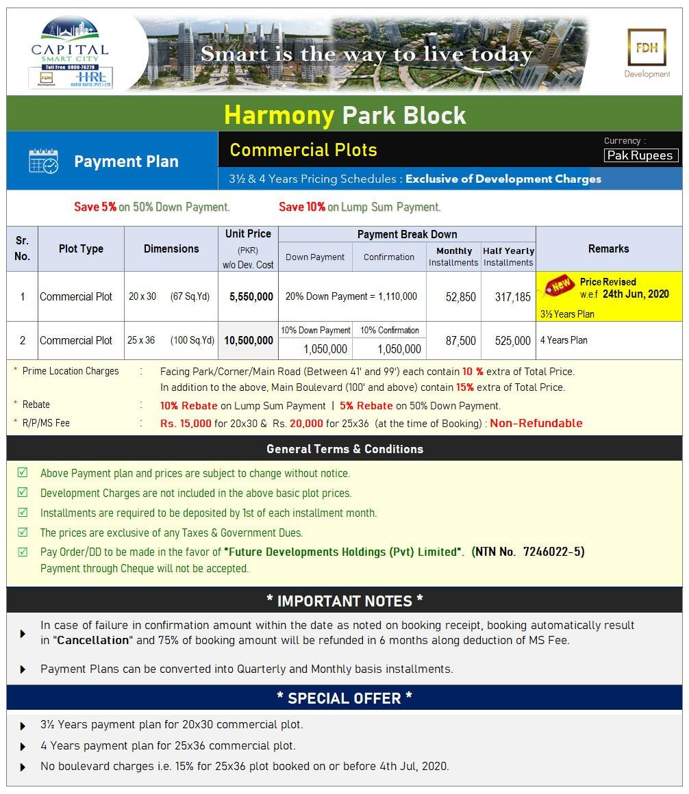 Harmony Park Block Commercial Plots