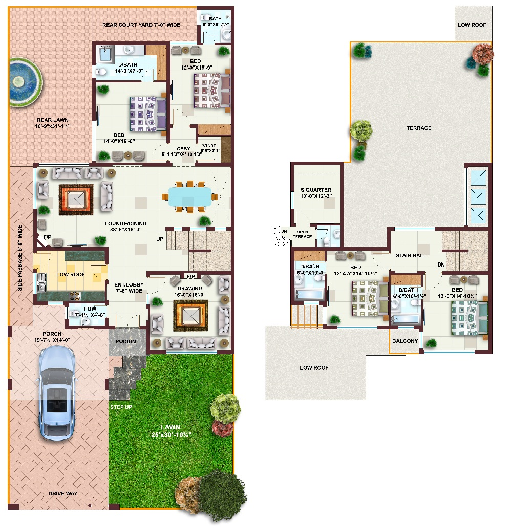 Home Design In Pakistan 1 Kanal: Kanal 10 Marla 5 Plan Beautiful Front ...