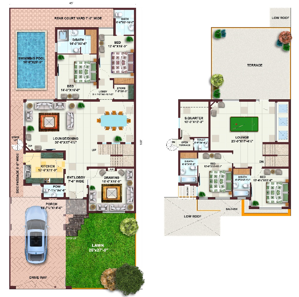 3 marla house map in pakistan joy studio design gallery for One kanal house plan