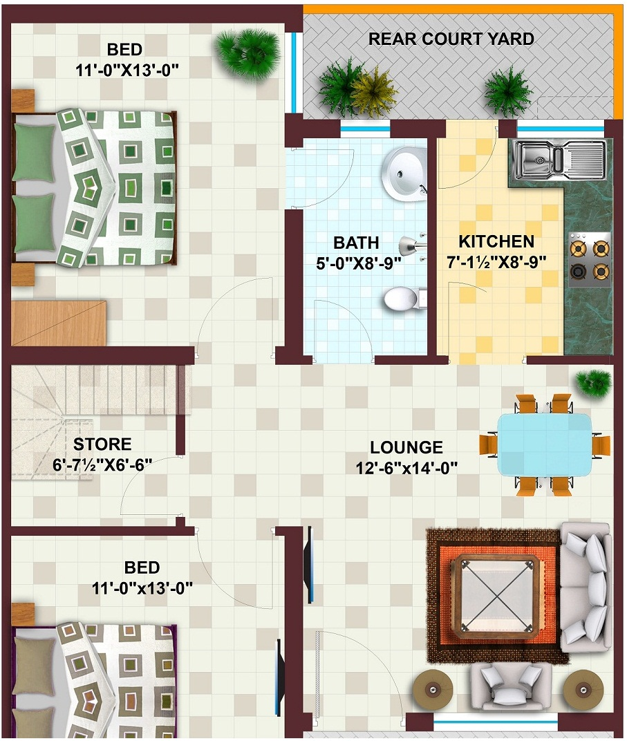 Marla House Map