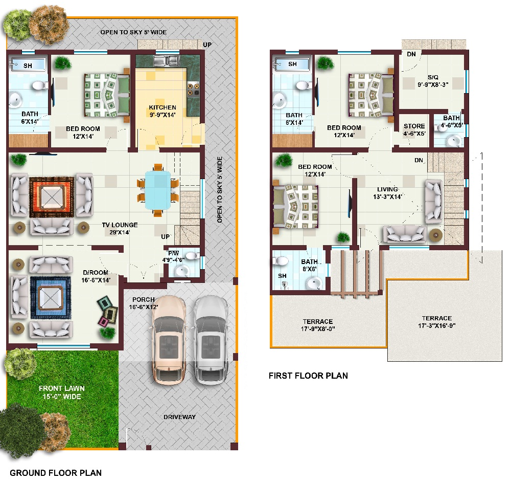 10 marla house map in pakistan pictures to pin on for Maps of home design