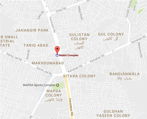 Makki Complex Lahore Location Map