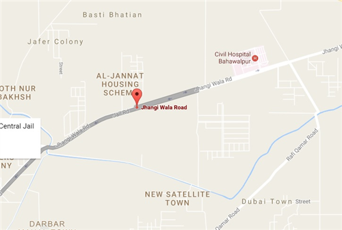 Zaman Villas Bahawalpur Location Map