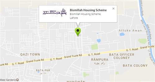 Bismillah Housing Scheme La Location Map on
