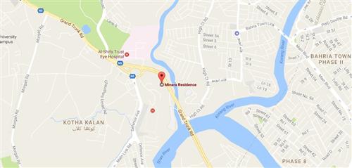 Minara Residence Rawalpindi Location Map