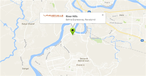 River Hills Rawalpindi Location Map