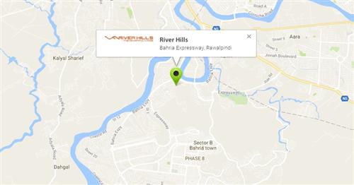 River Hills Rawalpindi Location Map