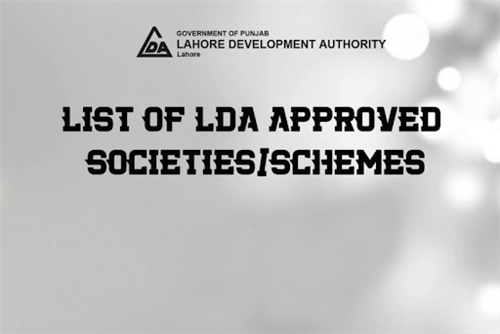 List of LDA Approved Housing Schemes 2019