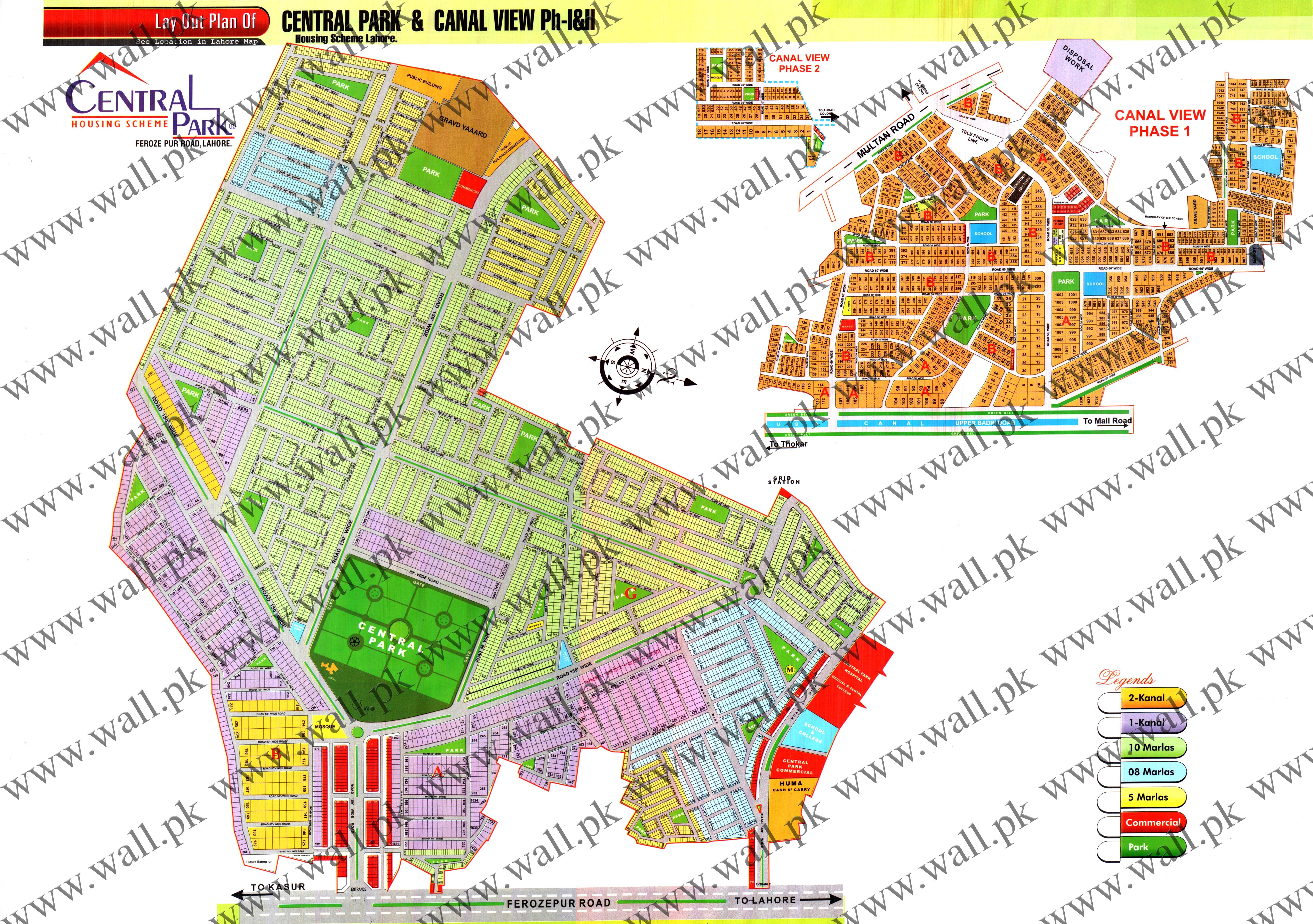 Latest Central Park Lahore Map New Map